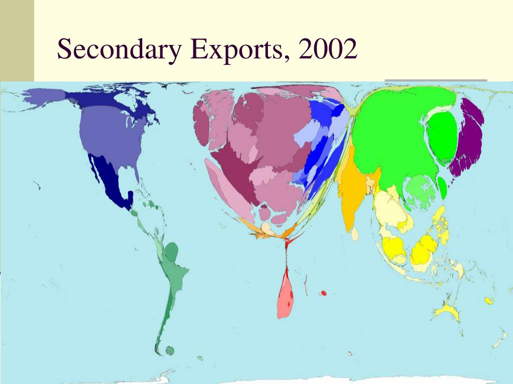 Secondary Exports, 2002