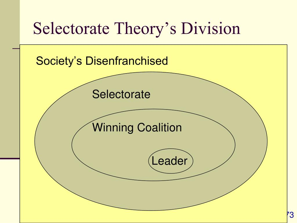 Selectorate Theory's Division