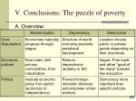 v conclusions the puzzle of poverty