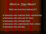 who s in their album