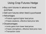 using crop futures hedge