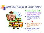 what does school of origin mean