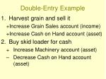 double entry example