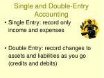 single and double entry accounting