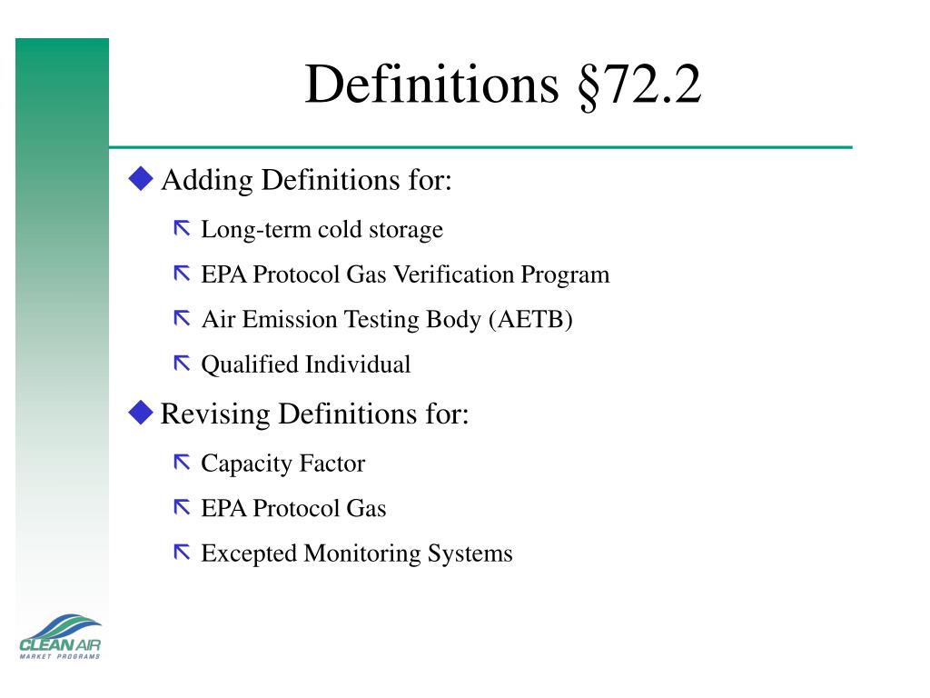 Definitions §72.2