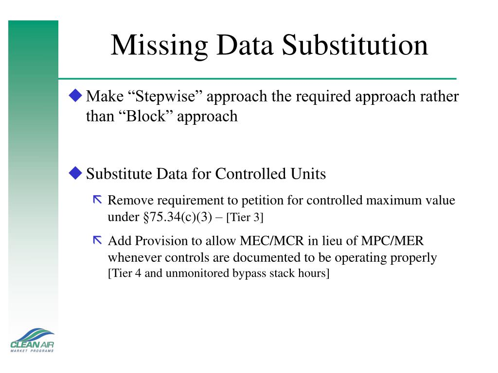 Missing Data Substitution