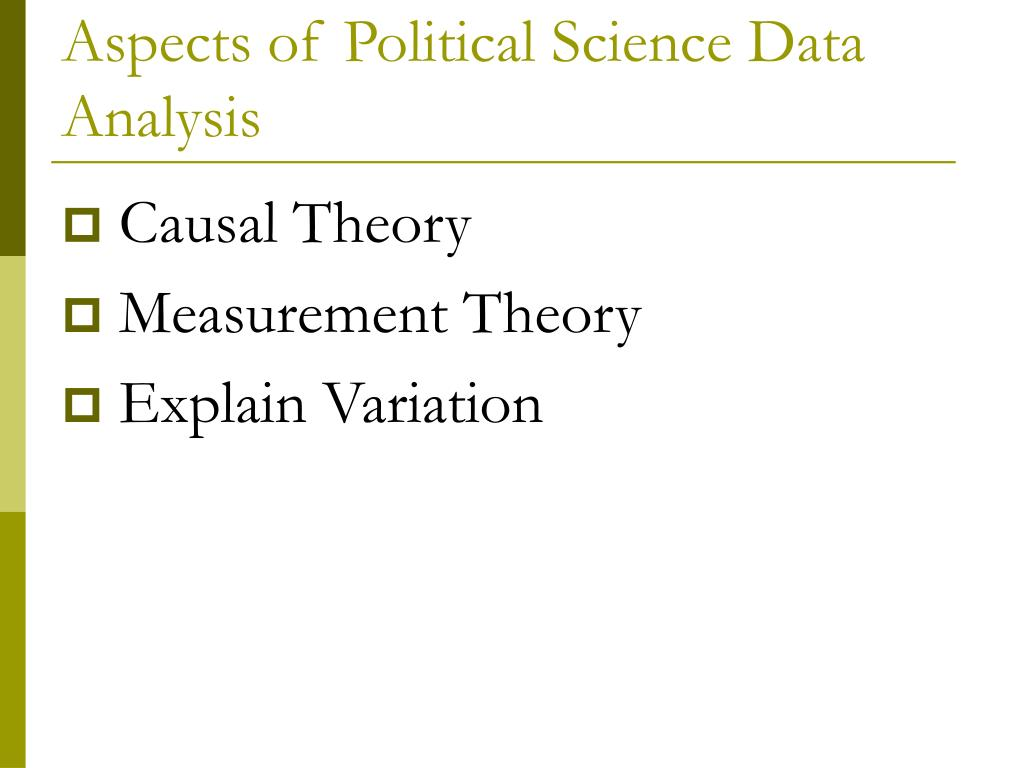 Aspects of Political Science Data Analysis