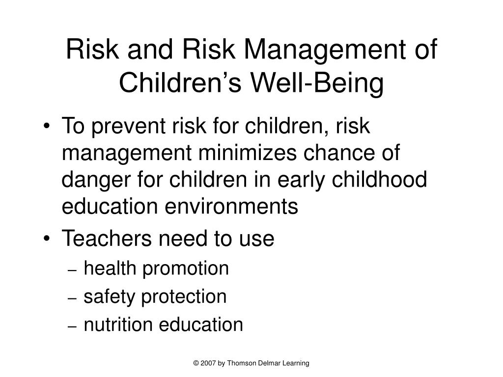 Risk and Risk Management of Children's Well-Being