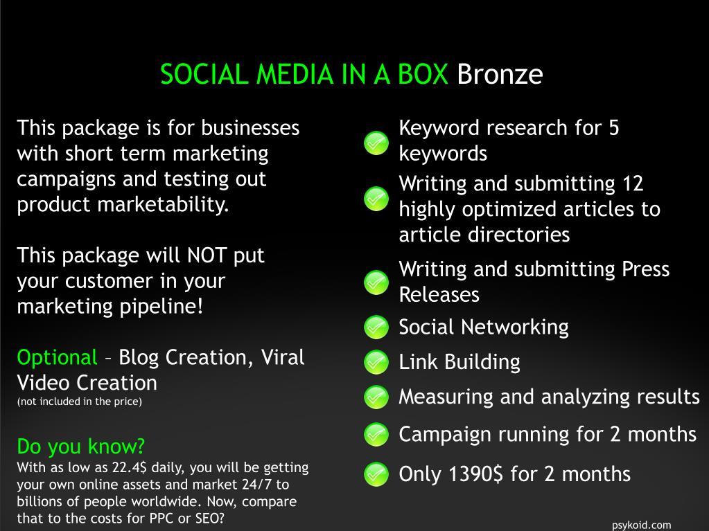 SOCIAL MEDIA IN A BOX