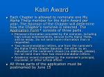 kalin award