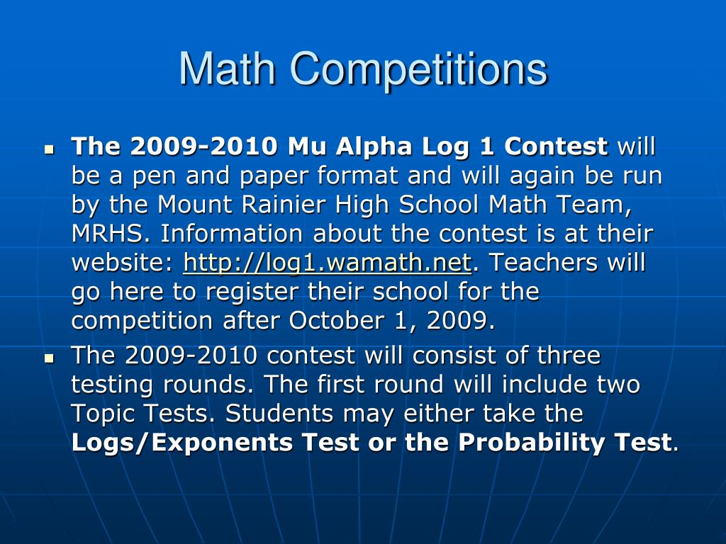 Math Competitions