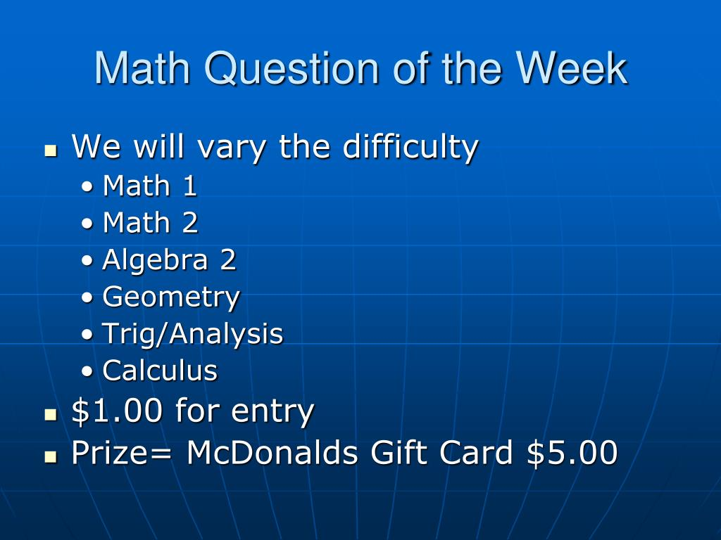 Math Question of the Week