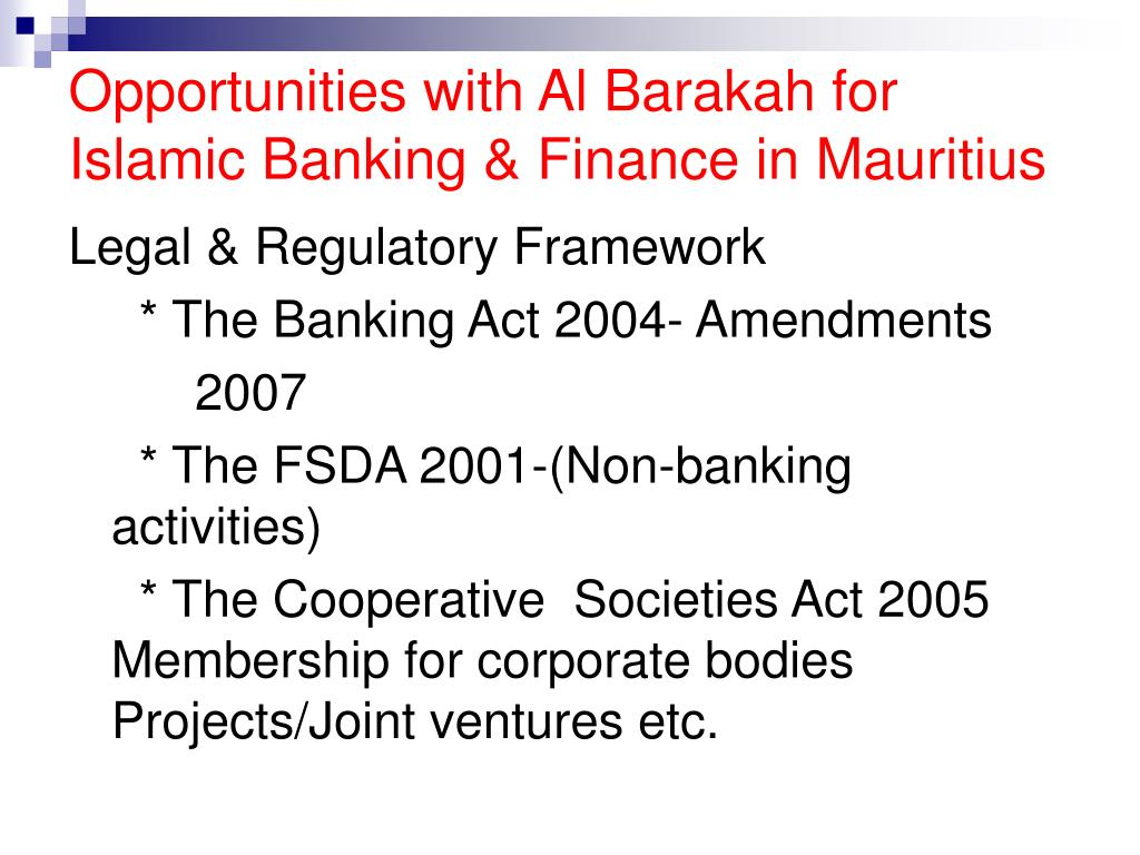 challenges of islamic banking in mauritius The islamic financial services board (ifsb) is an international standard-setting organisation that promotes and enhances the soundness and stability of the islamic financial services industry by issuing global prudential standards and guiding principles for the industry, broadly defined to include banking, capital markets and insurance.