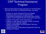 odp technical assistance program