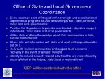 office of state and local government coordination
