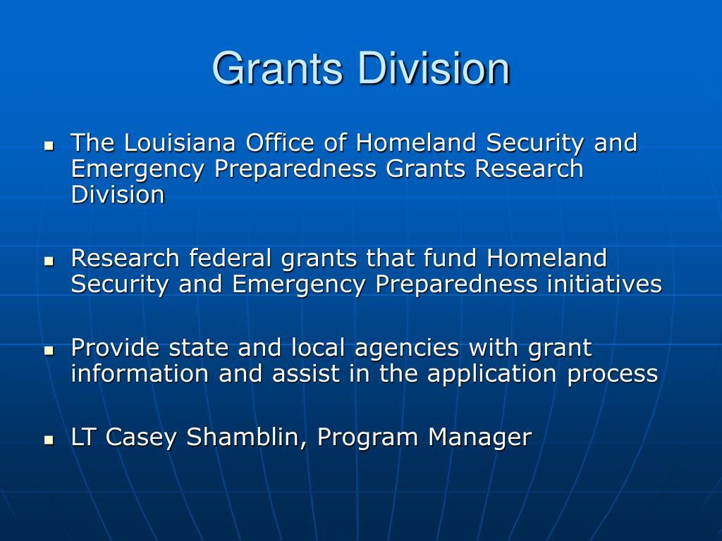 Grants Division