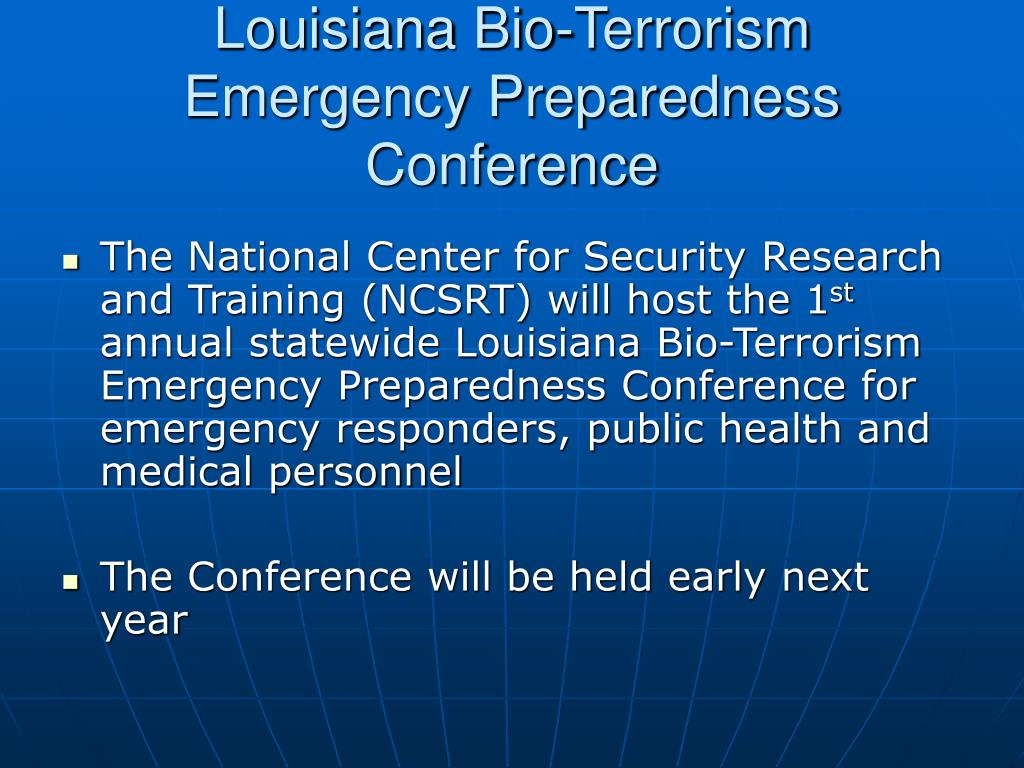 Louisiana Bio-Terrorism Emergency Preparedness Conference