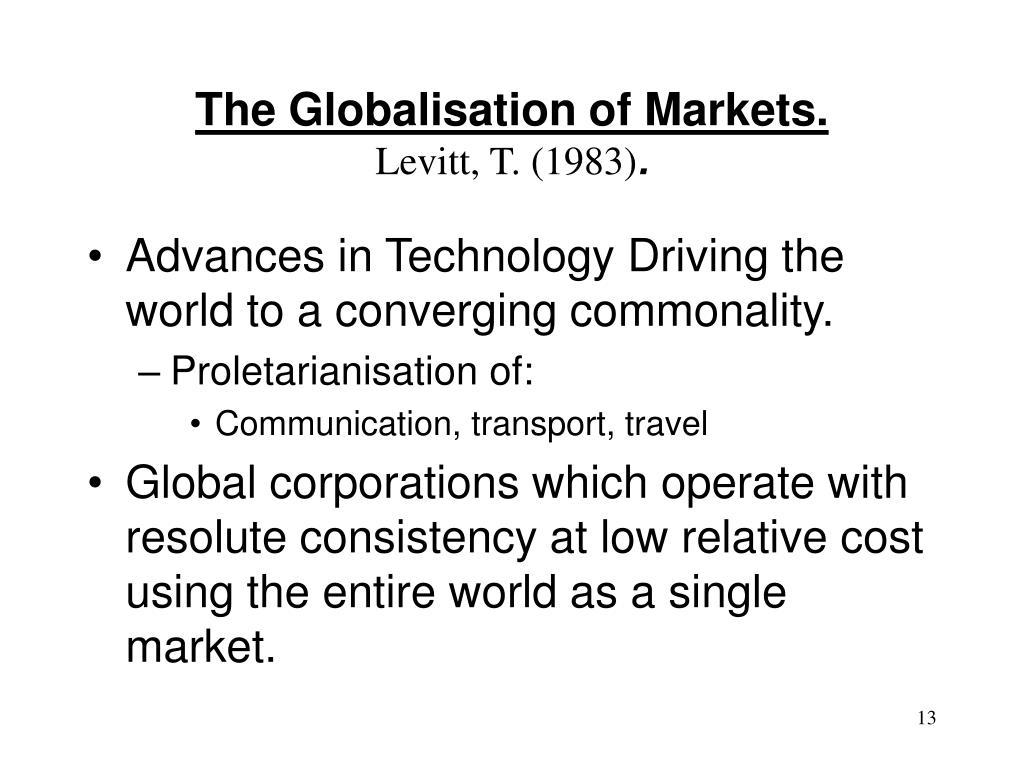 globalization of markets