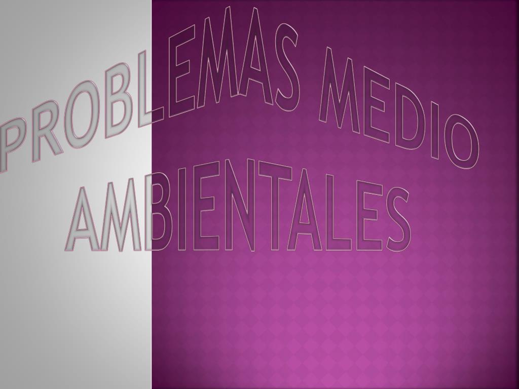 PROBLEMAS MEDIO AMBIENTALES