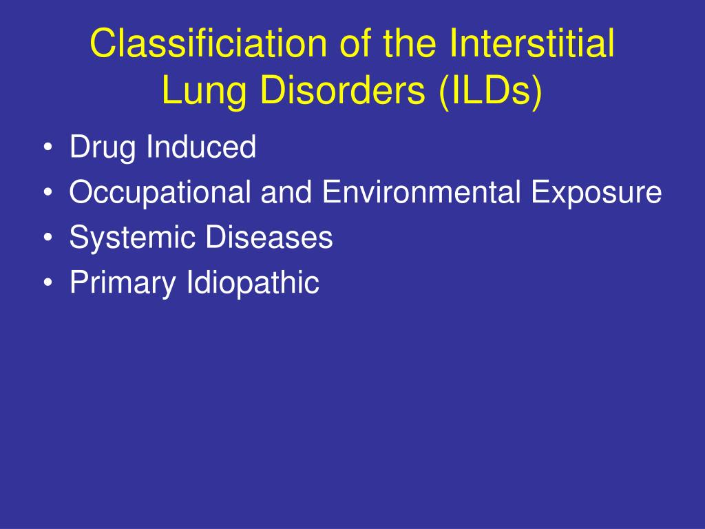 PPT Recent developments in the treatment of interstitial lung  #B5B516