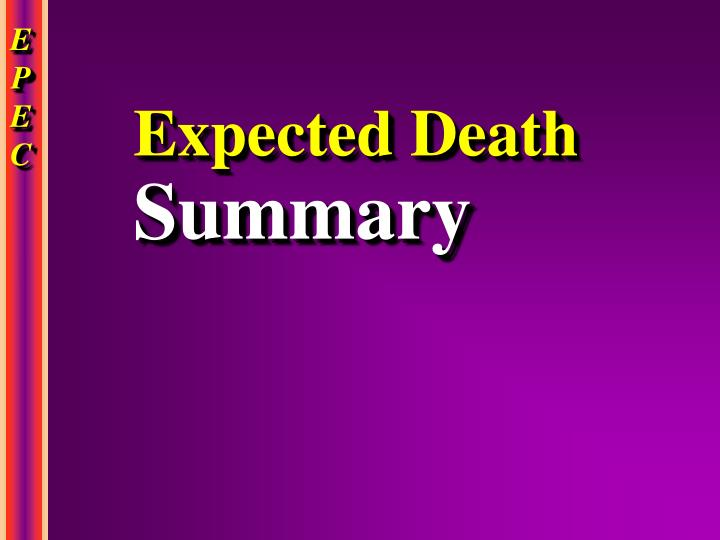 Expected Death