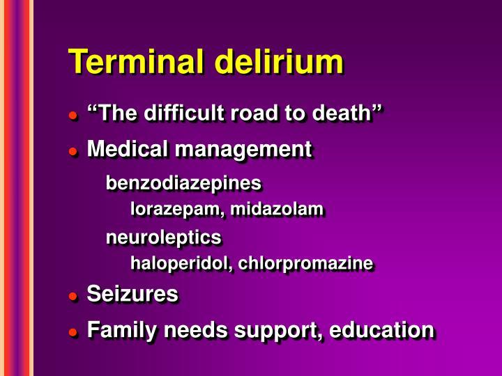 Terminal delirium