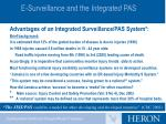 e surveillance and the integrated pas