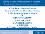getting started on the route to it success sustainability of health informatics systems