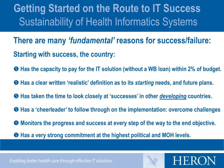 Getting Started on the Route to IT Success