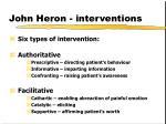 john heron interventions
