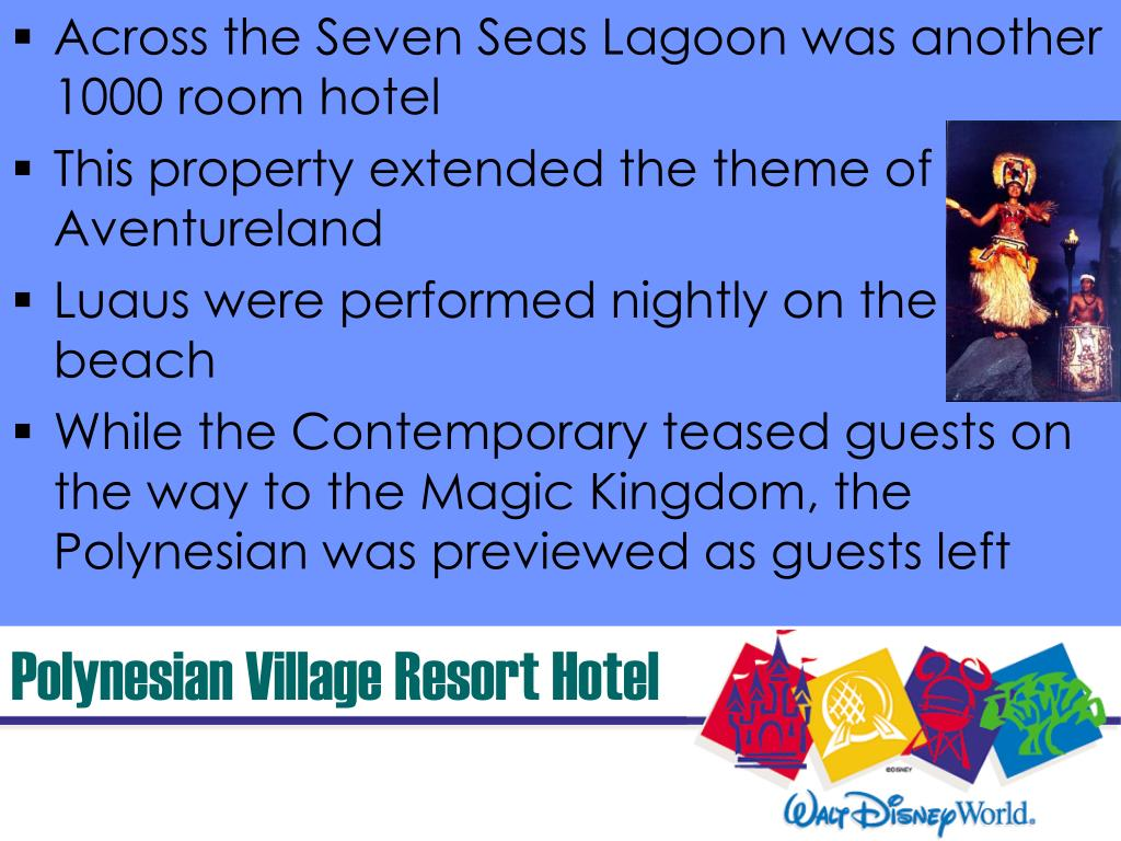 Across the Seven Seas Lagoon was another 1000 room hotel
