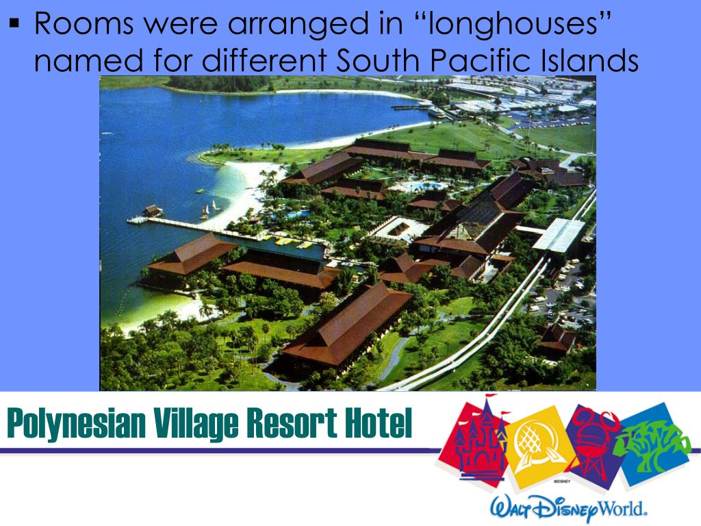 "Rooms were arranged in ""longhouses"" named for different South Pacific Islands"