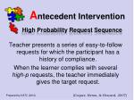 a ntecedent intervention17