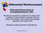 differential reinforcement46