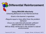 differential reinforcement48