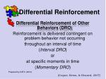 differential reinforcement55