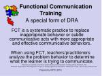 functional communication training