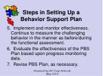 steps in setting up a behavior support plan122