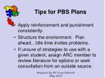 tips for pbs plans127