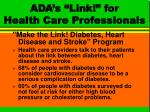 ada s link for health care professionals