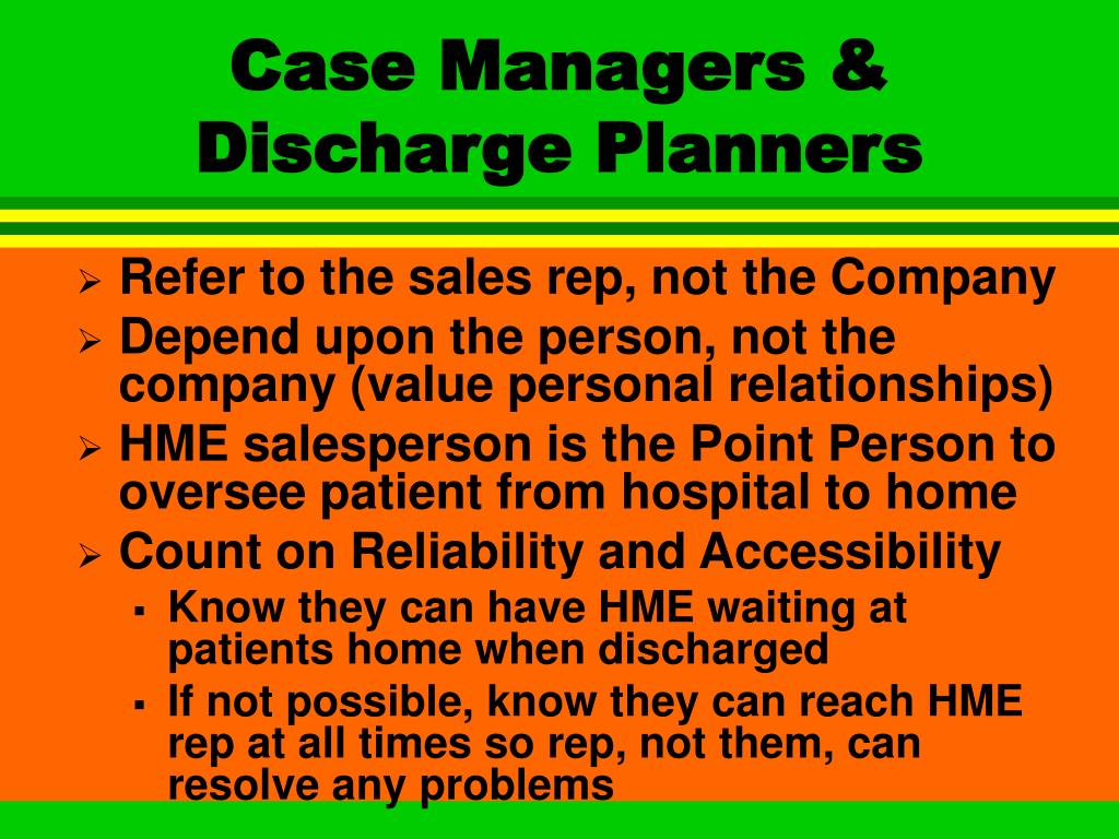 Case Managers & Discharge Planners