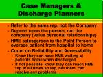 case managers discharge planners
