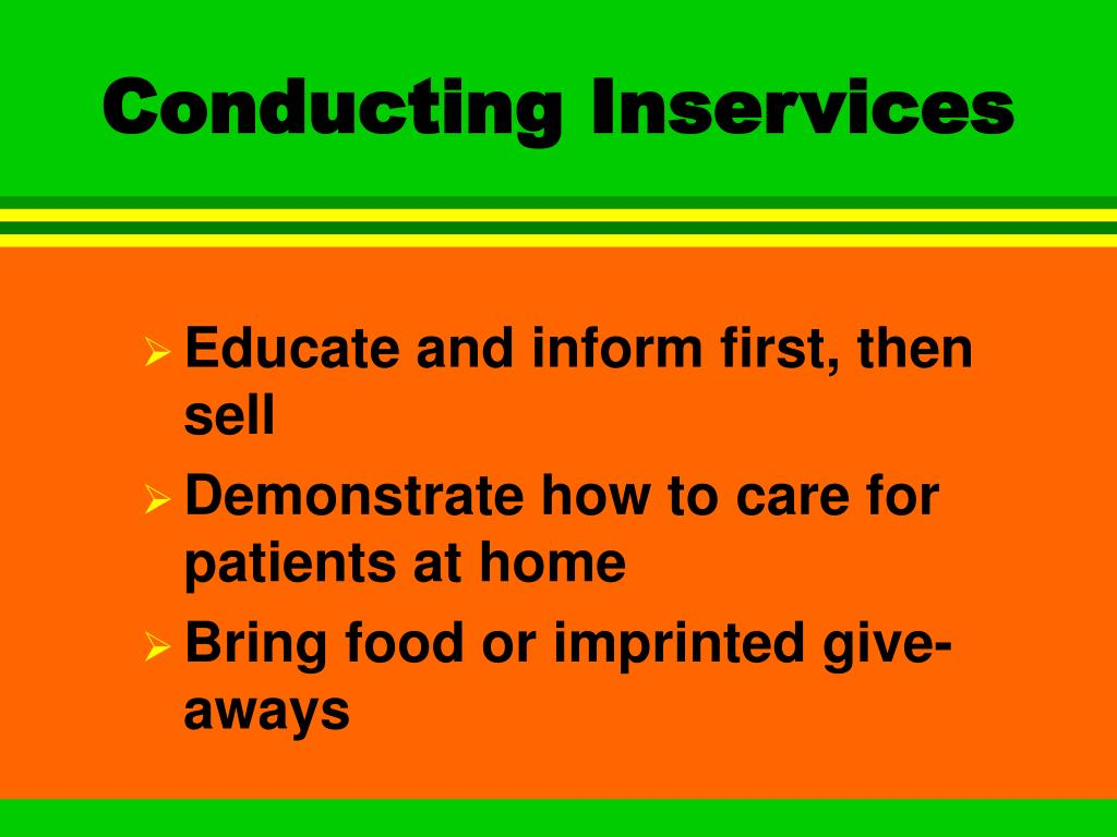 Conducting Inservices
