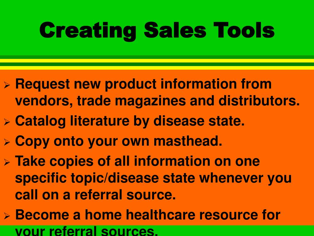 Creating Sales Tools