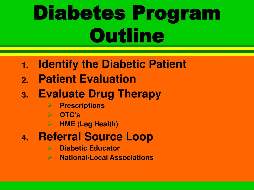 Diabetes Program Outline