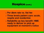 hospice cont