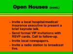 open houses cont