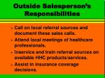 outside salesperson s responsibilities