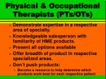 physical occupational therapists pts ots