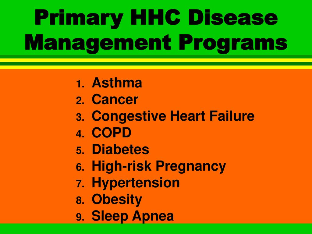 Primary HHC Disease Management Programs